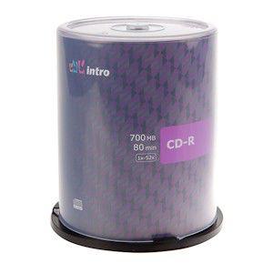 Диск CD-R Intro 700Mb 52x Конверт (1шт) (100)