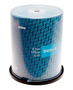 Диск DVD+R Intro 4.7Gb 16x Конверт (1шт) (100)