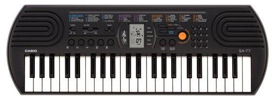 Синтезатор CASIO SА-77, 44, невзвешенная, малоразмерные, 8, серый [sa-77]