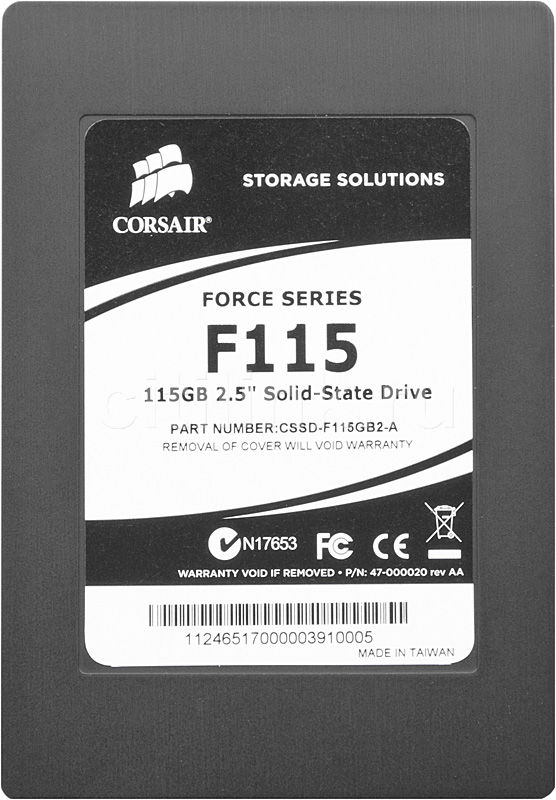 "Накопитель SSD CORSAIR Force CSSD-F115GB2-BRKT-A 115Гб, 2.5"", SATA II"
