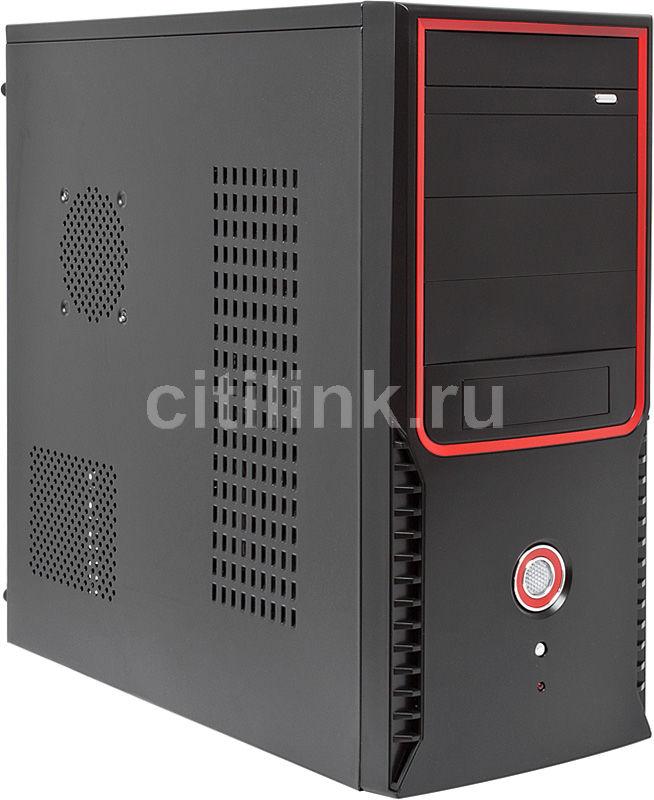 Корпус ATX CASECOM Texconn 6620, Midi-Tower, без БП,  черный и красный