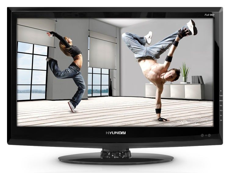 "Телевизор ЖК HYUNDAI H-LCD2418  ""R"", 23.6"", FULL HD (1080p),  черный"