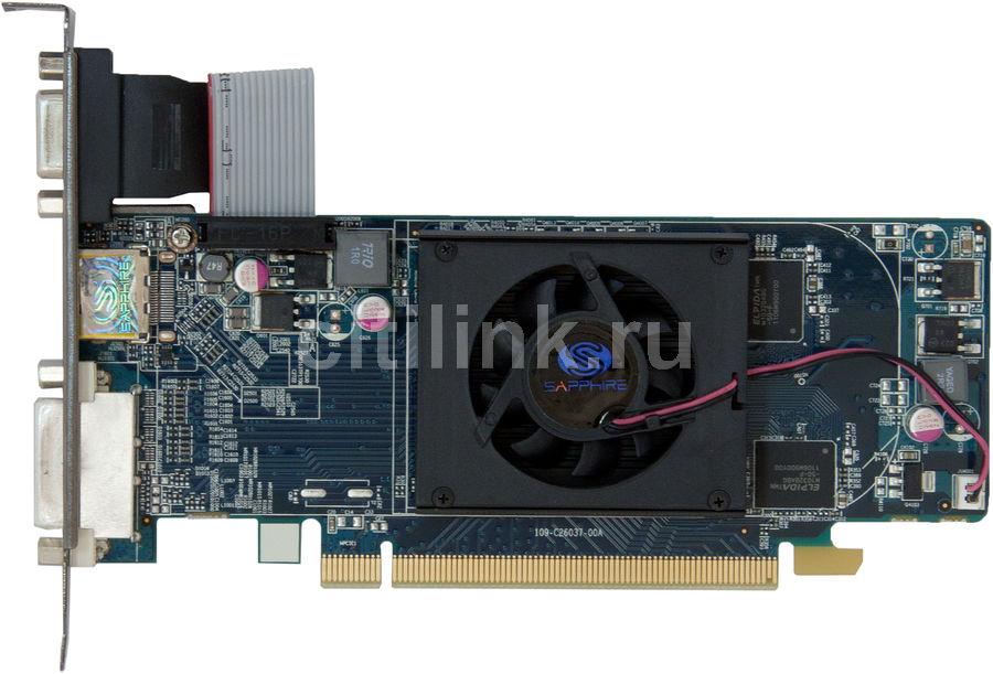 Видеокарта SAPPHIRE Radeon HD 6450,  512Мб, GDDR5, Low Profile,  oem [11190-xx-10g]