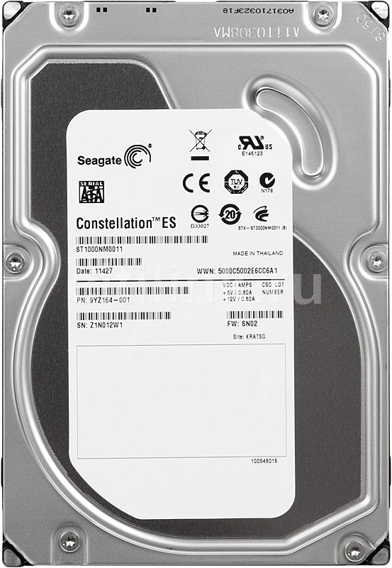 Жесткий диск SEAGATE Constellation ES ST1000NM0011,  1Тб,  HDD,  SATA III,  3.5