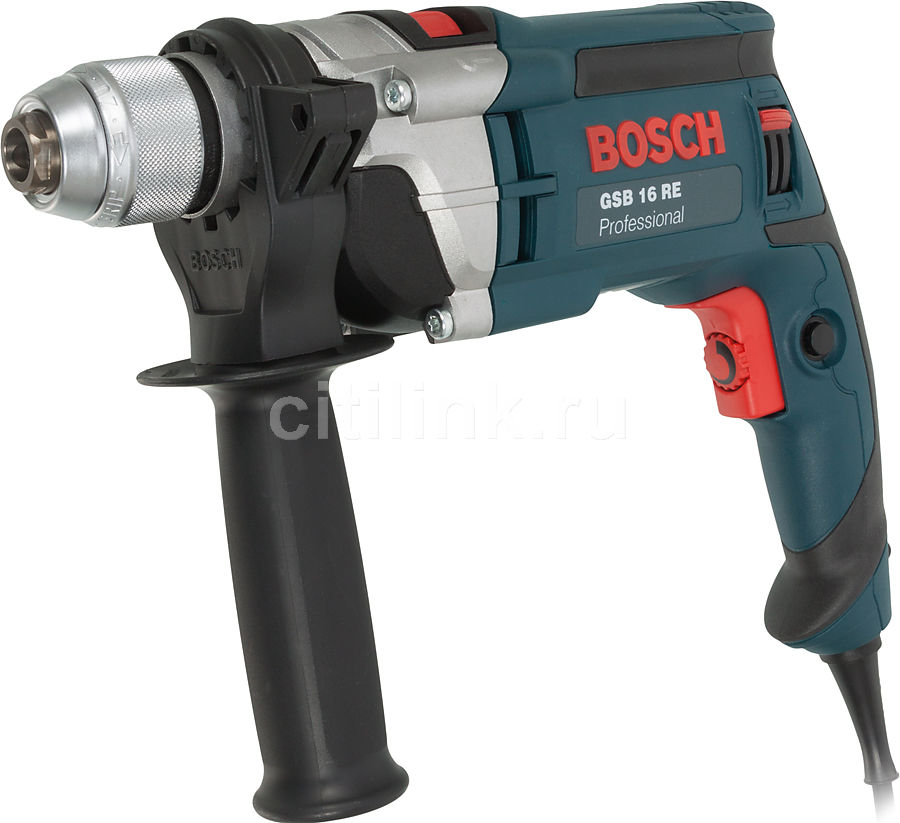 Дрель ударная BOSCH GSB 16 RE Professional [060114e500] дрель ударная bosch gsb 13 re professional [0601217100]