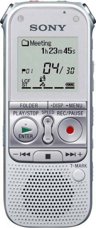 Диктофон SONY ICD-AX412F 2 Gb,  серебристый [icdax412fs.ce7]