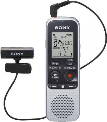Диктофон SONY ICD-BX112M 2 Gb,  серебристый [icdbx112m.cev]