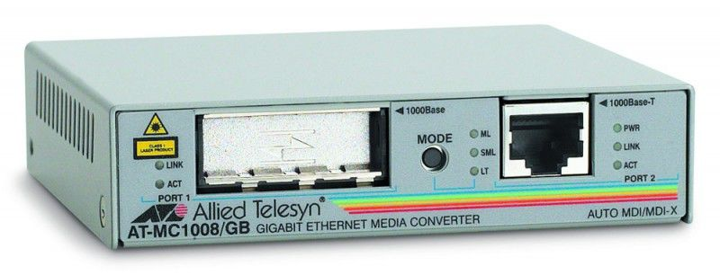 Медиаконвертер Allied Telesis AT-MC1008/GB-60 1000T to GBIC Media Converter