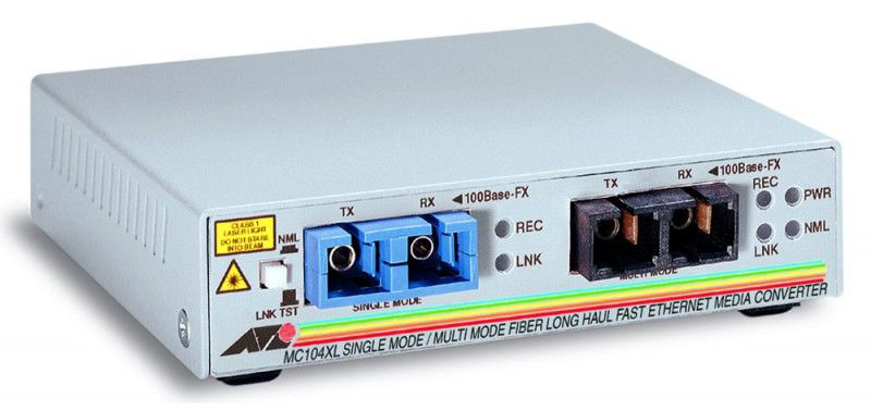 Медиаконвертер Allied Telesis AT-MC104XL-60 100FX SC multi-mode to 100FX SC single-mode 15kmМедиаконвертеры<br><br>