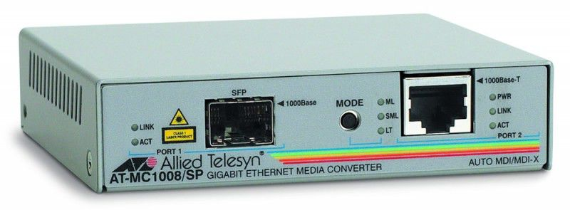 Медиаконвертер Allied Telesis AT-MC1008/SP-60 1000T to SFP медиаконвертер allied telesyn at mc103xl 60 100basetx to 100basefx медиа конвертер