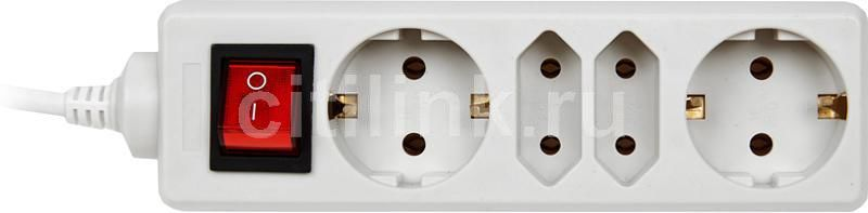 Сетевой удлинитель PC PET AP02009-3, 3м, белый