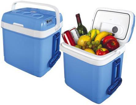 Автохолодильник MYSTERY MTC-30,  30л,  голубой и белый