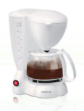 Кофеварка POLARIS PCM1204,  капельная,  белый