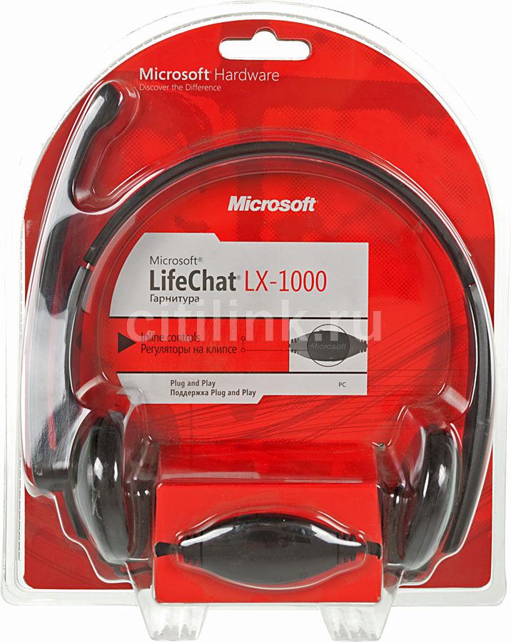 Наушники с микрофоном MICROSOFT LX-1000,  JTD-00004,  накладные, черный