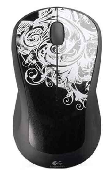 Мышь LOGITECH M310 оптическая беспроводная USB, черный и белый [910-002172]