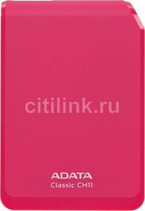 Внешний жесткий диск A-DATA Classic CH11, 750Гб, розовый [ach11-750gu3-cpk]