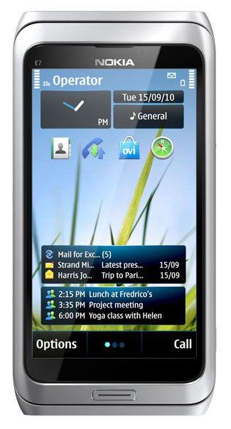 Смартфон NOKIA E7-00,  серебристый