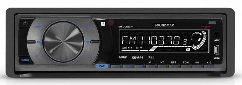 Автомагнитола SOUNDMAX SM-CCR3037,  USB,  SD/MMC