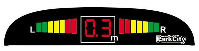Парковочный радар PARKCITY Center 420/102 LW,  серебристый