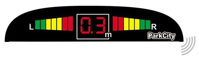 Парковочный радар PARKCITY Jupiter 420/403W LW,  черный