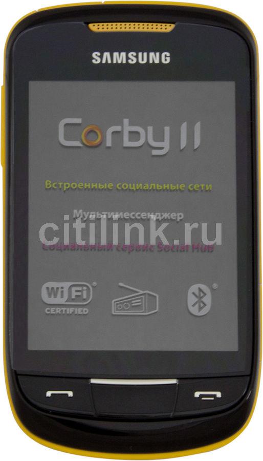 Мобильный телефон SAMSUNG Corby II GT-S3850  желтый