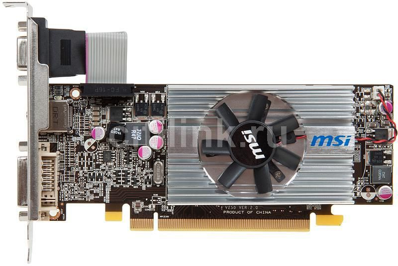 Видеокарта MSI Radeon HD 6570,  1Гб, DDR3, Low Profile,  Ret [r6570-md1gd3/lp]