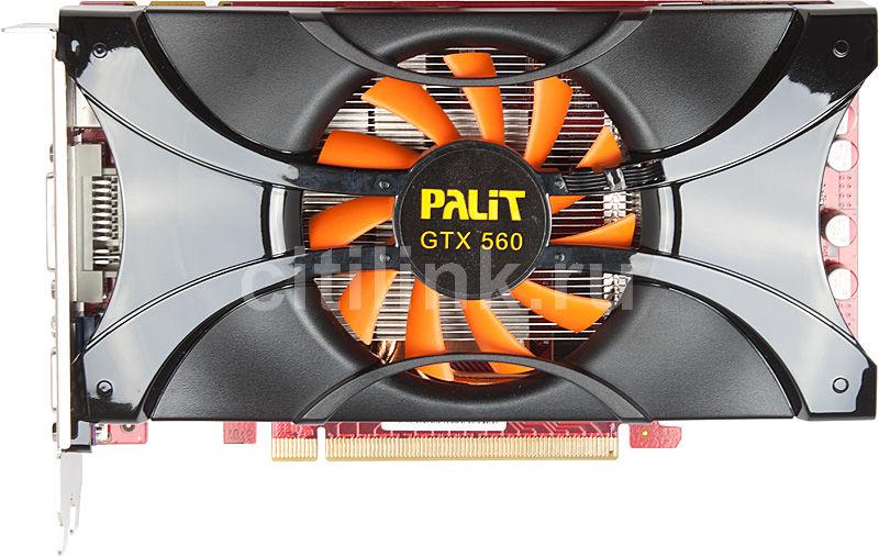 Видеокарта PALIT nVidia  GeForce GTX 560 ,  1Гб, GDDR5, OC,  Ret [ne5x560hhd02-114xf]