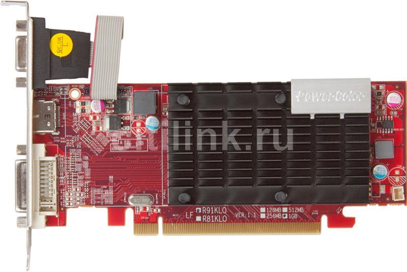 Видеокарта POWERCOLOR Radeon HD 6450,  1Гб, DDR3, Low Profile,  oem [ax6450 1gbk3-sh]