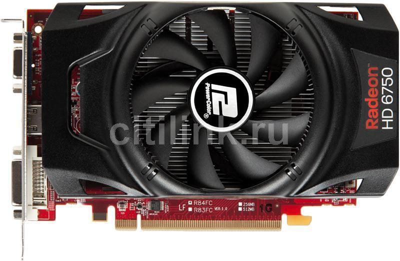 Видеокарта POWERCOLOR Radeon HD 6750,  1Гб, GDDR5, Ret [ax6750 1gbd5-h]