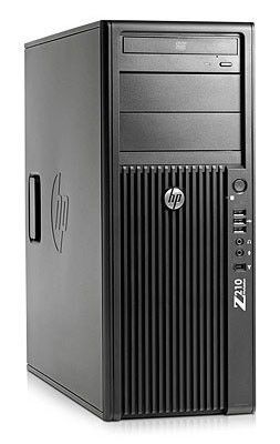 Рабочая станция  HP Z210,  Intel  Xeon  E3-1230,  DDR3 8Гб, 1Тб,  DVD-RW,  CR,  Windows 7 Professional,  черный [kk783ea]