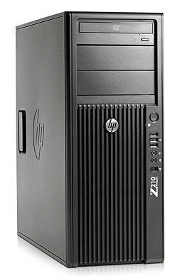 Рабочая станция  HP Z210,  Intel  Xeon  E3-1225,  DDR3 4Гб, 500Гб,  Intel HD Graphics P3000,  DVD-RW,  Windows 7 Professional,  черный [kk765ea]