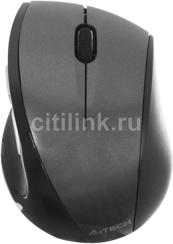 Мышь A4 V-Track G7-750N-1 оптическая беспроводная USB, серый