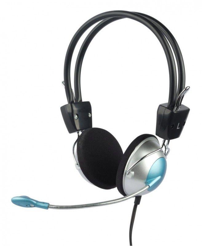 Наушники с микрофоном OKLICK HS-M134V,  накладные, серебристый  / черный