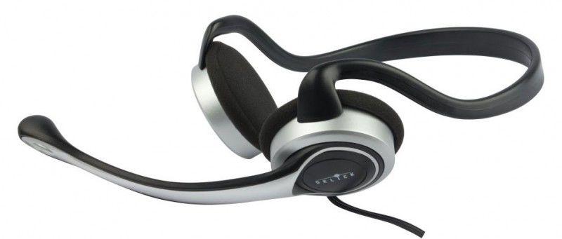 Наушники с микрофоном OKLICK HS-M145V,  накладные, серебристый  / черный