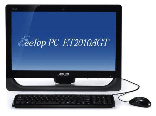 Моноблок ASUS EeeTop PC ET2010AGT, AMD Athlon II X2 250u, 3Гб, 500Гб, ATI Radeon HD 5470, DVD-RW, Windows 7 Home Premium, черный [90pe3fa21138e6059c0c]