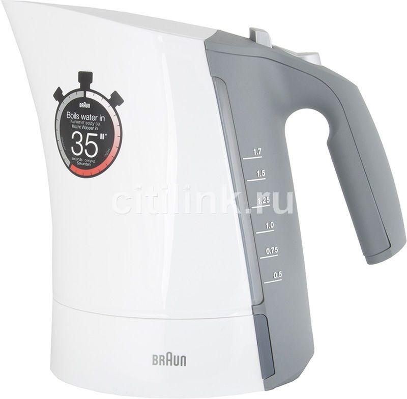 Чайник электрический BRAUN WK300, 2280Вт, белый