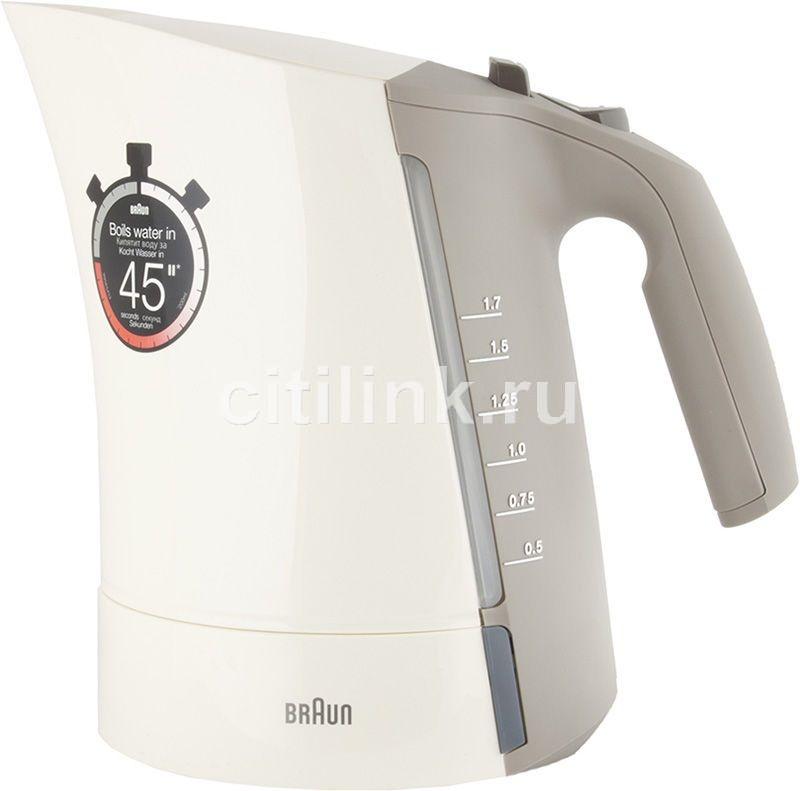 Чайник электрический BRAUN WK300, 2280Вт, бежевый
