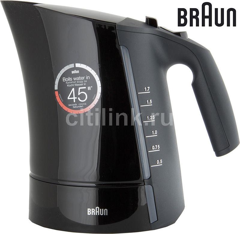 Чайник электрический BRAUN WK300, 2280Вт, черный