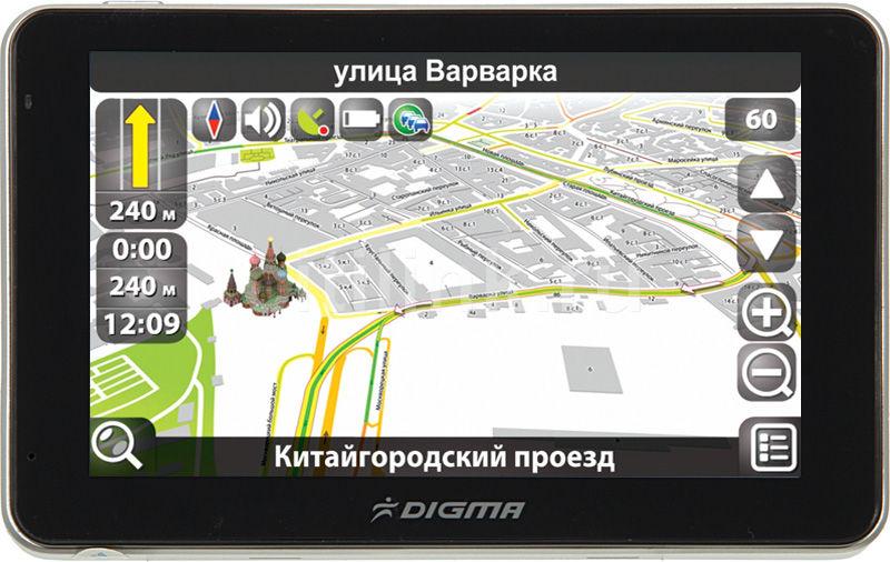 "GPS навигатор DIGMA DS504BN,  5"",  авто, 4Гб, Navitel 5,  черный"
