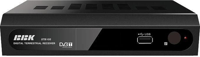 Ресивер DVB-T BBK STB105,  черный