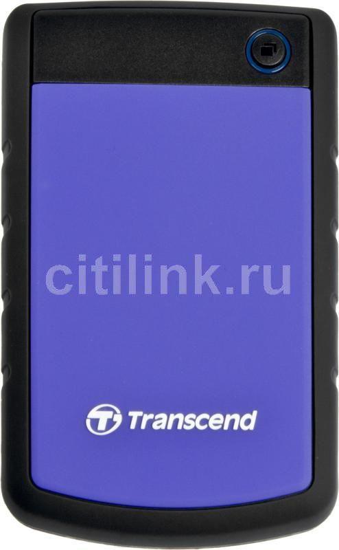 Внешний жесткий диск TRANSCEND StoreJet 25H2P TS1TSJ25H2P, 1Тб, фиолетовый