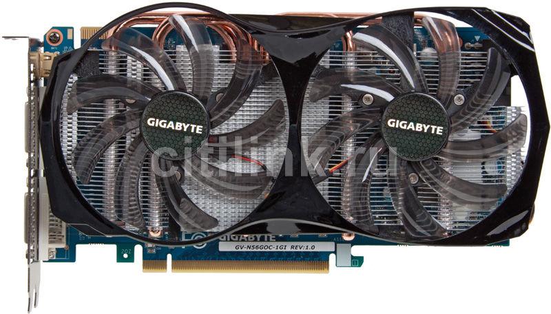 Видеокарта GIGABYTE GeForce GTX 560,  1Гб, GDDR5, OC,  Ret [gv-n56goc-1gi]