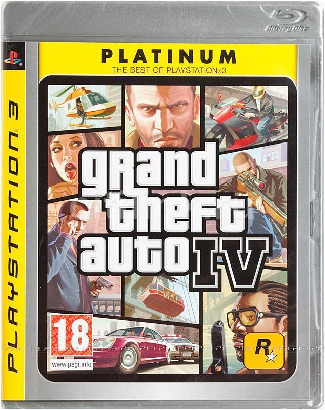 Игра SONY Grand Theft Auto IV (Platinum) для  PlayStation3 Eng