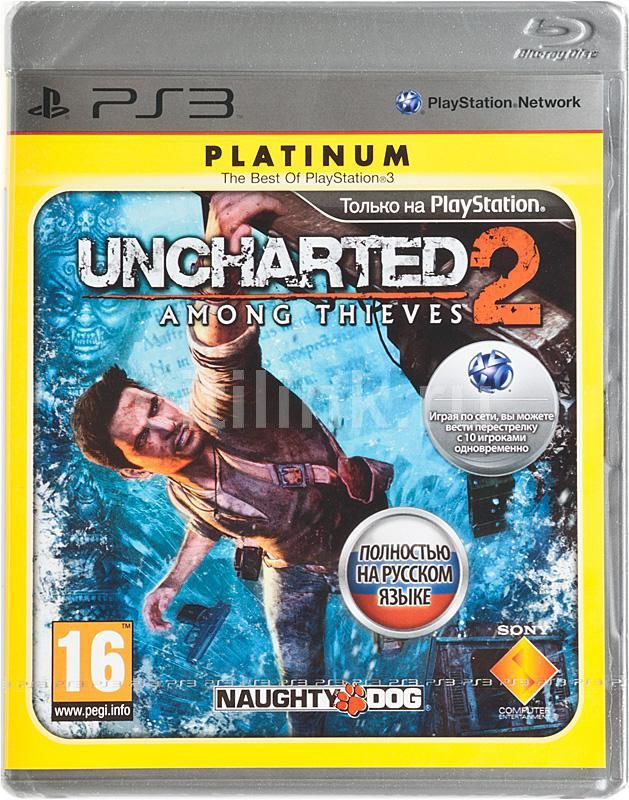 Игра SONY Uncharted 2: Among Thieves (Platinum) для  PlayStation3 Rus