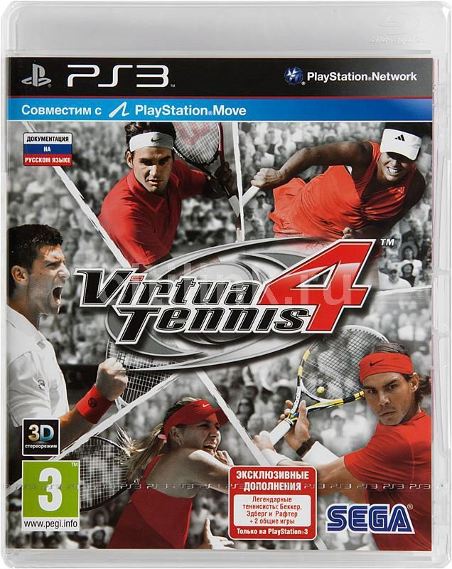 Игра SONY Virtua Tennis 4 для  PlayStation3 Rus (документация)