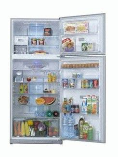 Холодильник TOSHIBA GR-RG74RD(GS),  двухкамерный,  серебристое стекло
