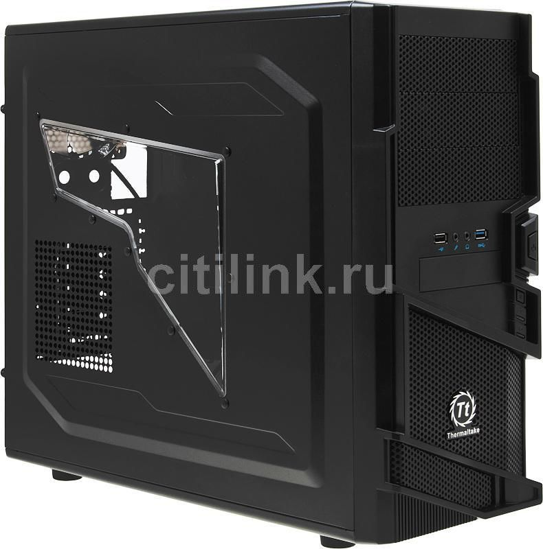 Корпус ATX THERMALTAKE Commander MS-I VN400A1W2N, Midi-Tower, без БП,  черный