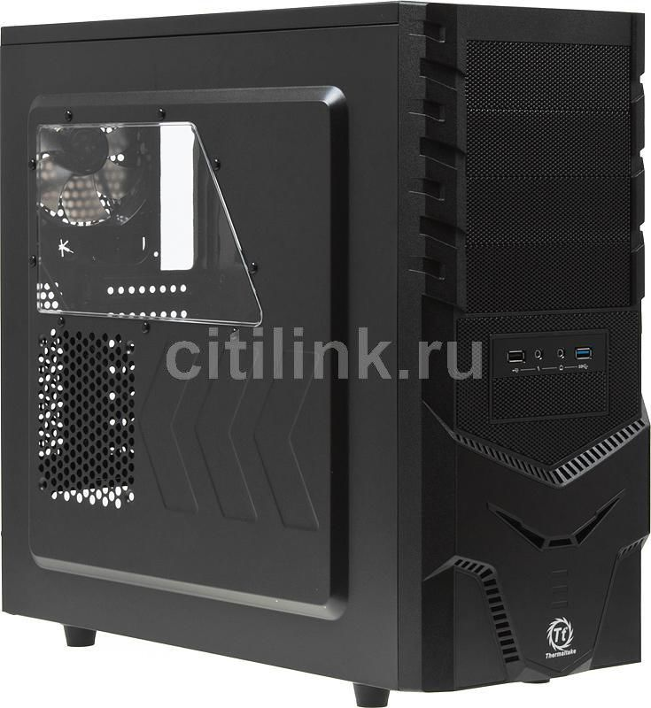 Корпус ATX THERMALTAKE Spacecraft VF-I VN600A1W2N, Midi-Tower, без БП,  черный