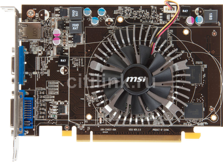 Видеокарта MSI R6670 MD1GD5,  1Гб, GDDR5, Ret