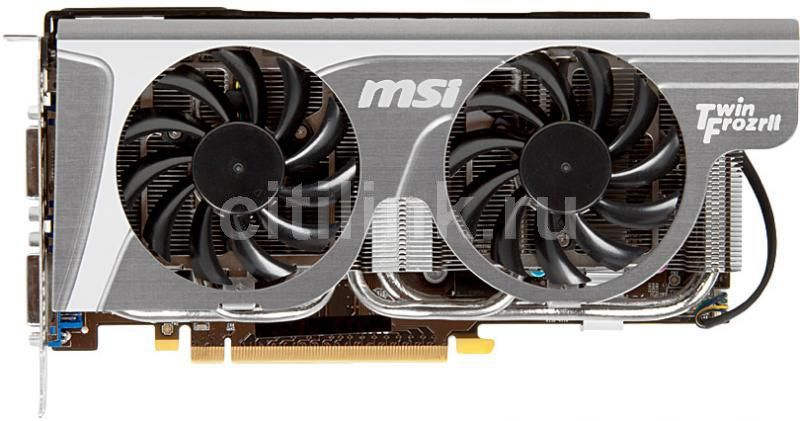 Видеокарта MSI N560GTX Twin Frozr II/OC,  1Гб, GDDR5, OC,  Ret